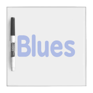 Blues word blue music design.png Dry-Erase whiteboard
