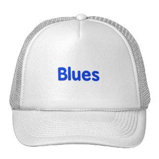 Blues word blue music design png mesh hat