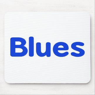 Blues word blue music design.png mousepad