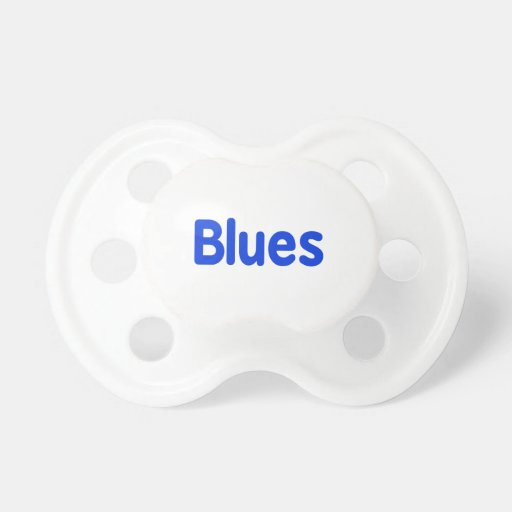Blues word blue music design.png pacifier
