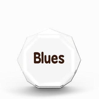 Blues word brown music design.png acrylic award