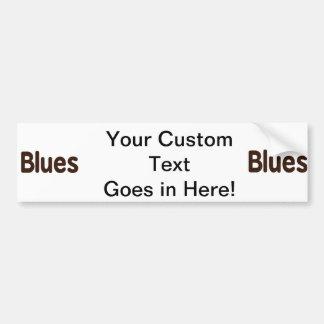 Blues word brown music design.png car bumper sticker