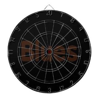 Blues word brown music design.png dart board