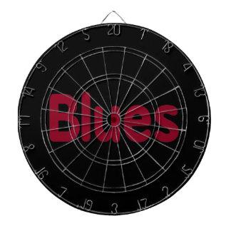 Blues word burgundy music design.png dart board