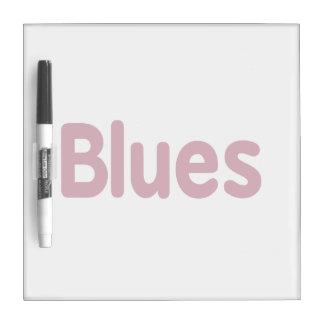 Blues word burgundy music design.png Dry-Erase boards