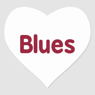 Blues word burgundy music design.png heart sticker