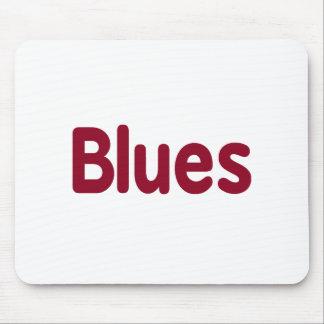 Blues word burgundy music design.png mousepad