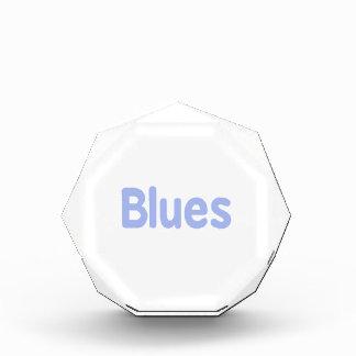 Blues word cornflower music design.png acrylic award