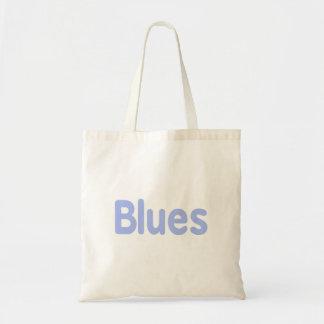 Blues word cornflower music design.png budget tote bag