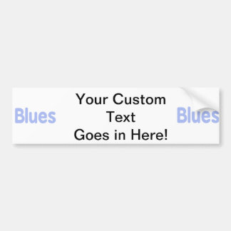 Blues word cornflower music design.png bumper stickers