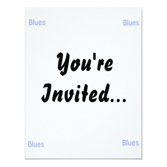 Blues word cornflower music design.png card