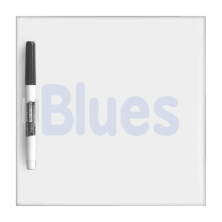 Blues word cornflower music design.png Dry-Erase board