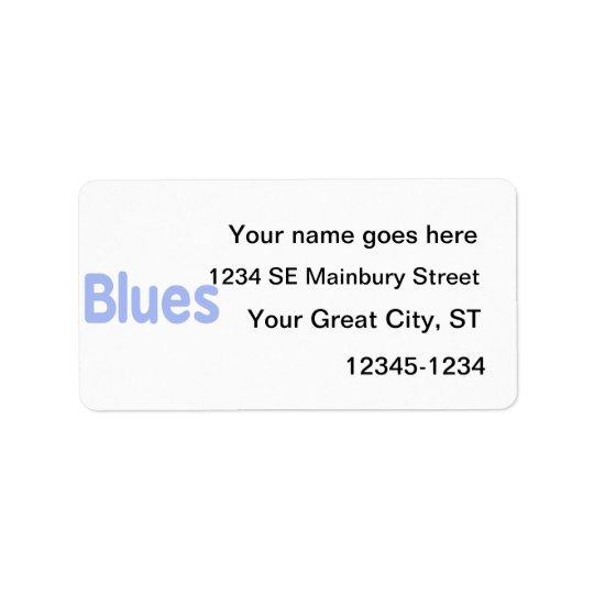 Blues word cornflower music design.png label