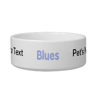 Blues word cornflower music design.png pet bowls