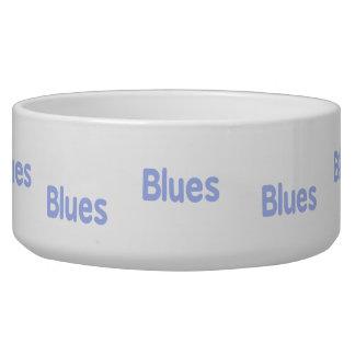 Blues word cornflower music design.png dog food bowl