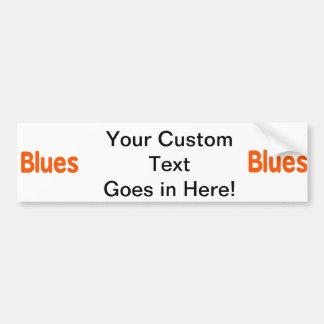 Blues word d orange music design.png car bumper sticker