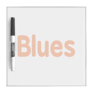 Blues word d orange music design.png Dry-Erase boards