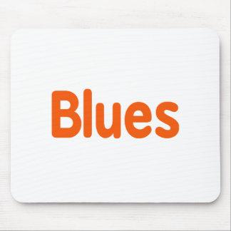 Blues word d orange music design.png mouse pad