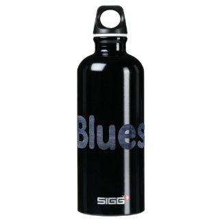 Blues word denim texture musician image.png aluminum water bottle
