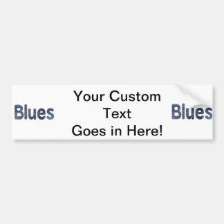 Blues word denim texture musician image.png car bumper sticker