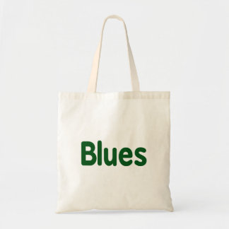 Blues word green music design.png budget tote bag