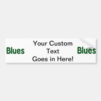 Blues word green music design.png car bumper sticker