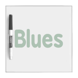Blues word green music design.png dry erase board