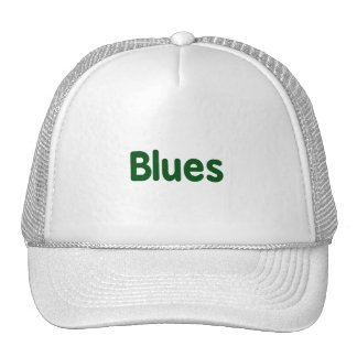 Blues word green music design png hat