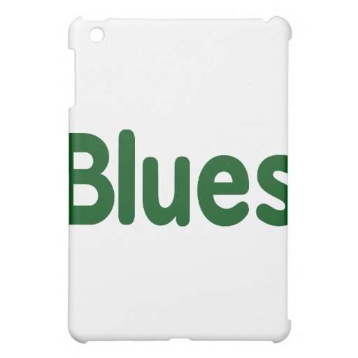 Blues word green music design.png iPad mini case