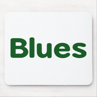 Blues word green music design.png mouse pad