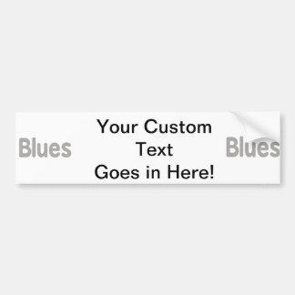 Blues word grey music design.png car bumper sticker