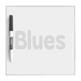 Blues word grey music design.png Dry-Erase board