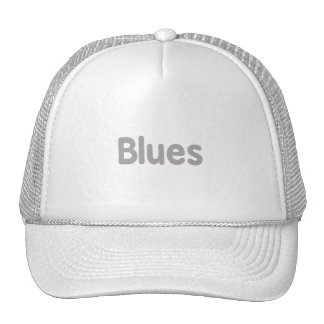 Blues word grey music design png hat