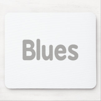 Blues word grey music design.png mouse pad