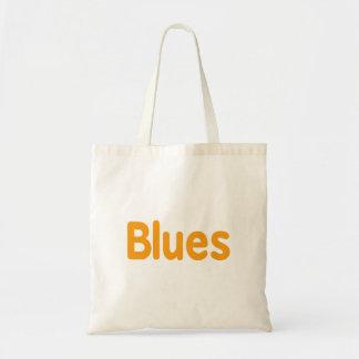 Blues word l orange music design.png budget tote bag
