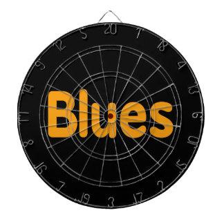Blues word l orange music design.png dartboard