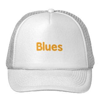Blues word l orange music design png mesh hats