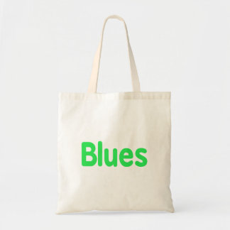 Blues word mint music design.png budget tote bag