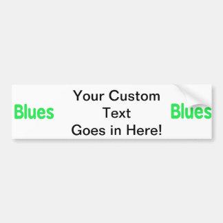 Blues word mint music design.png car bumper sticker