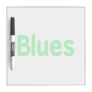 Blues word mint music design.png Dry-Erase whiteboard
