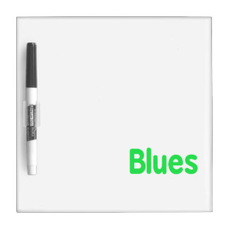 Blues word mint music design.png dry erase whiteboard