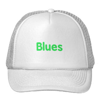 Blues word mint music design png hat