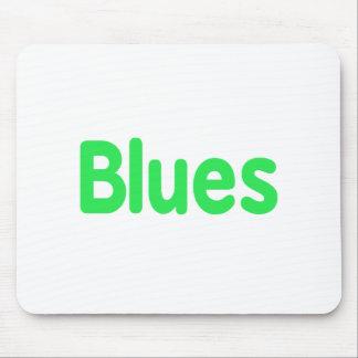 Blues word mint music design.png mousepads