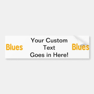 Blues word orange music design.png car bumper sticker