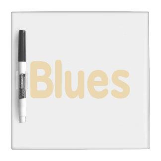 Blues word orange music design.png dry erase whiteboard