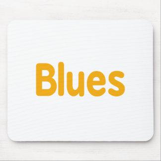 Blues word orange music design.png mouse pad