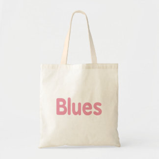 Blues word pink music design.png budget tote bag