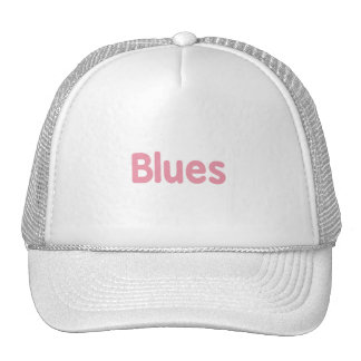 Blues word pink music design png hats