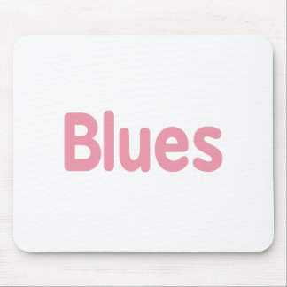 Blues word pink music design.png mousepads