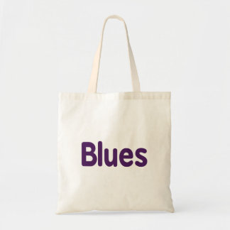 Blues word purple music design.png budget tote bag